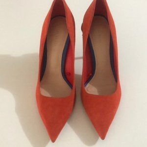 Orange Suede Zara Pumps